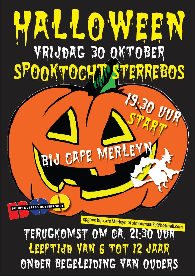 Poster Halloween spooktocht
